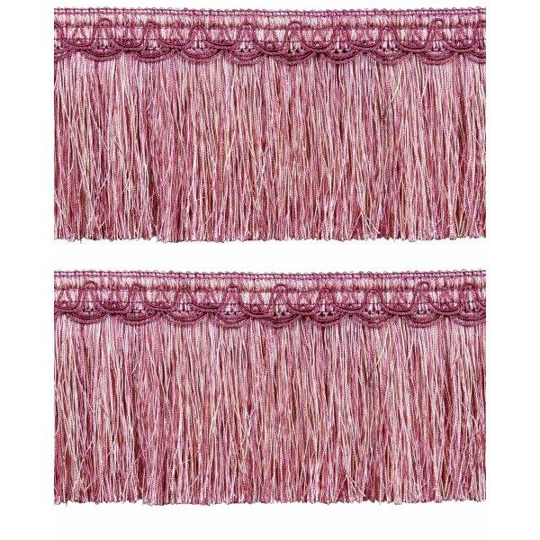 Bullion Fringe on Fancy Braid - Dusky Pink12.5cm (Prices per metre)