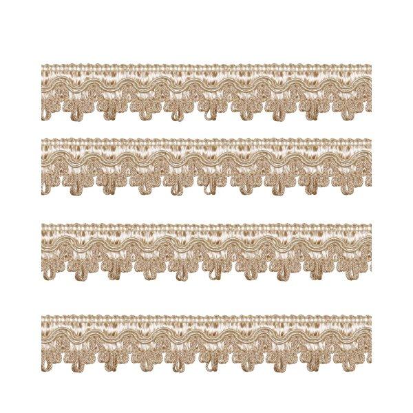 Fancy Braid - Cream / Gold 27mm (Price is per metre)