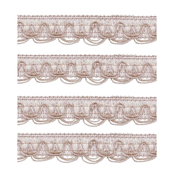 Scalloped Looped Braid - PALE PINK