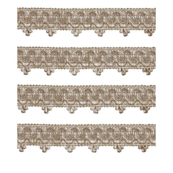 Ornate Scalloped Braid - BEIGE 45mm