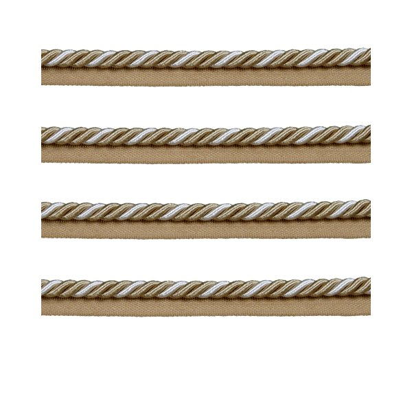 Piping Cord 2-Tone Twist on Tape - CREAM/GOLD