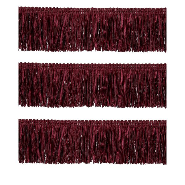 Bullion Fringe with Ribbons - Red Wine 6cm (Prices per metre)