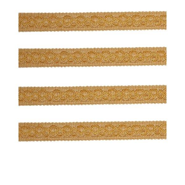 Fancy Braid - Gold 21mm (Price is per metre)