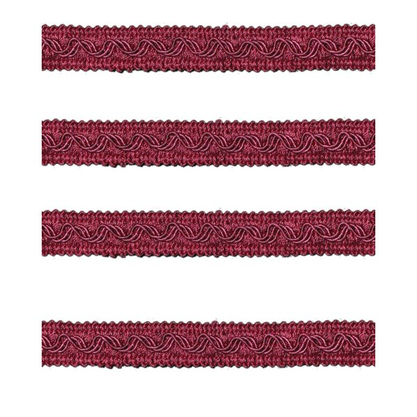 Small Fancy Braid - Red Wine 11mm (Price is per metre)