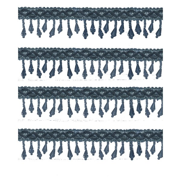Short Fringe Beading - CHARCOAL GREY 1.5cm