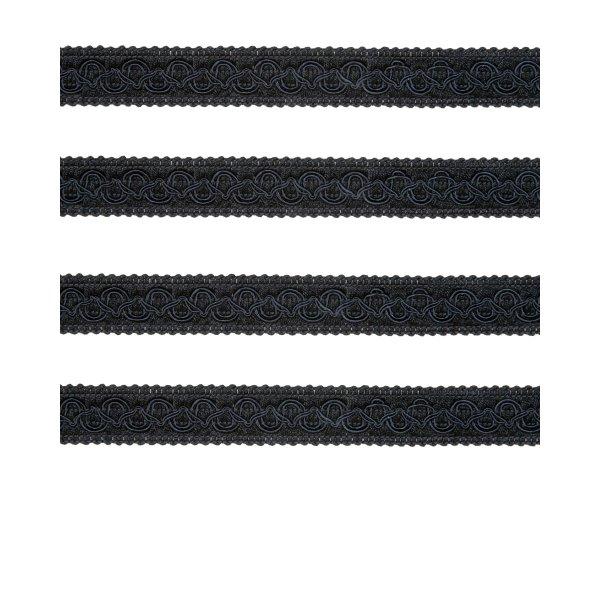 Fancy Braid - Black 21mm (Price is per metre)