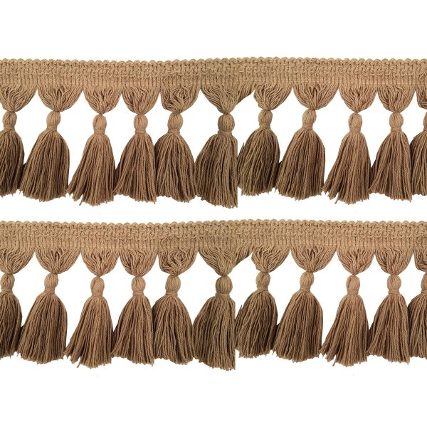 Natural Cotton Tassel Fringing - JUTE 9.5cm