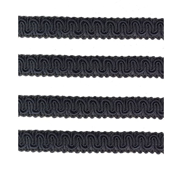 Upholstery Braid - Charcoal Grey 1.3cm (Price is per metre)