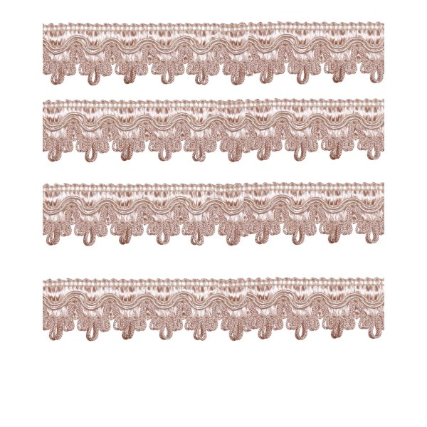 Scalloped Looped Braid - Pink 27mm (Price is per metre)