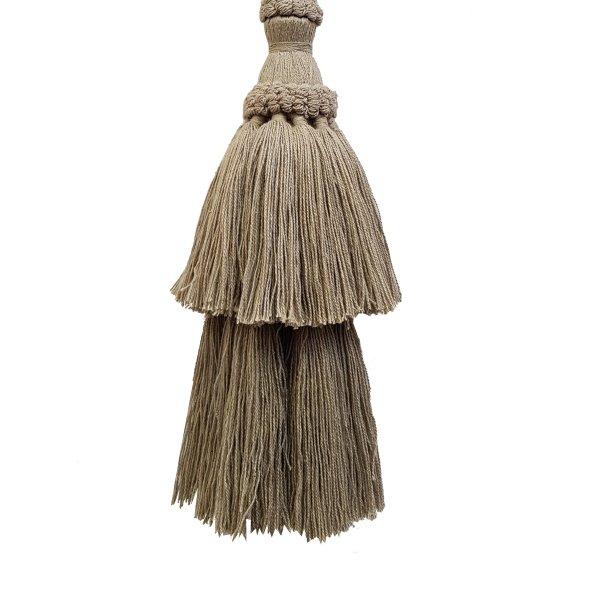 Natural Cotton Tassel - Jute 15.5cm