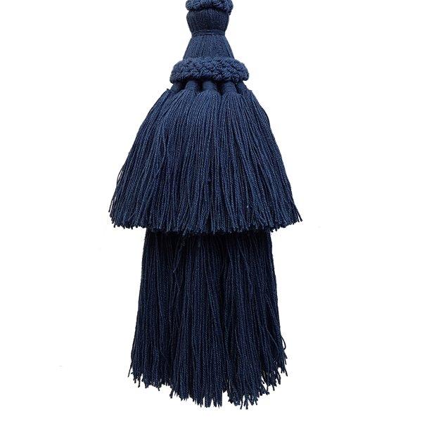Natural Cotton Tassel - Navy Blue 15.5cm