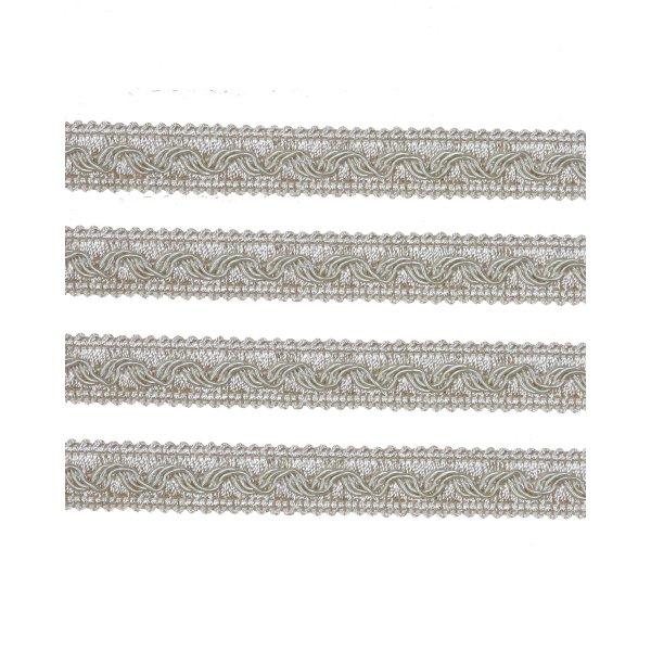 Small Fancy Braid - Cream 11mm (Price is per metre)