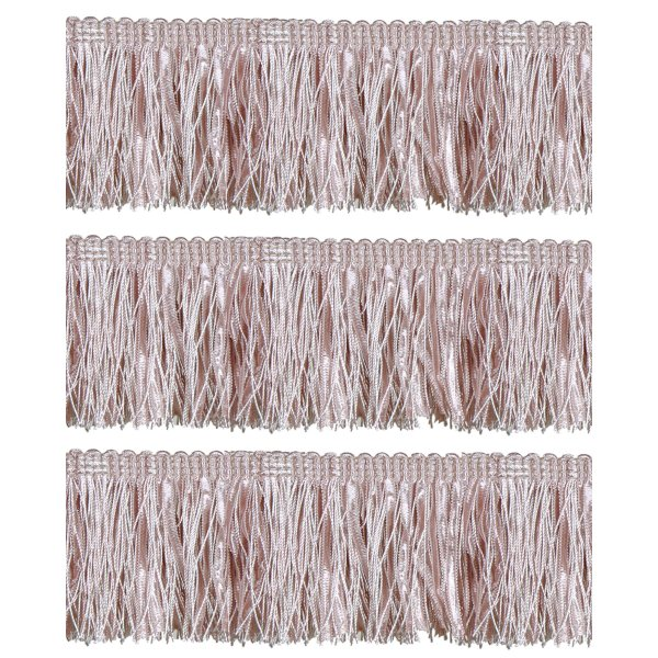 Bullion Fringe with Ribbons - Pale Pink 6cm (Prices per metre)