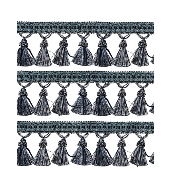 Fringe Tassels - Blue 95mm Price is per metre.