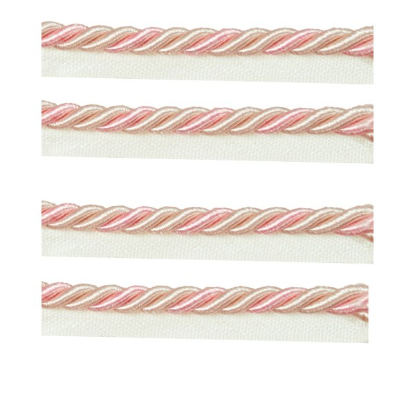 Piping Cord 2-Tone Twist on Tape - PALE PINK/DUSKY PINK