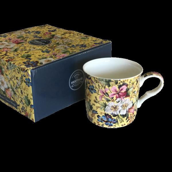 Summer Blossom Design Set of 4 NEW Heritage Brand 300ml 10.5 oz ea