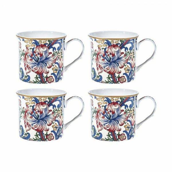 Morris Lily Design Set of 4 NEW Heritage Brand 250ml 9oz
