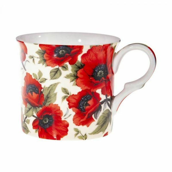 Poppies Design Mug NEW Heritage Brand Boxed 300ml 10.5oz
