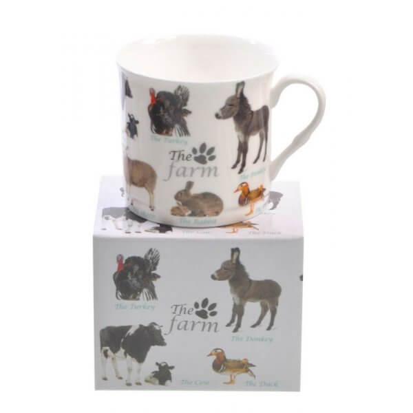Farm Animals Design Mug NEW Heritage Brand 300ml 10.5oz