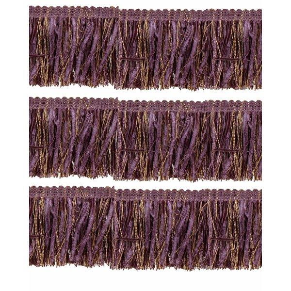 Bullion Fringe with Ribbons - Purple / Gold 10cm (Prices per metre)