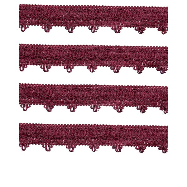 Ornate Scalloped Braid - RED WINE 45mm