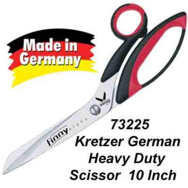 "73225 Kretzer German-made dressmaking/tailor heavy duty scissors 10"""