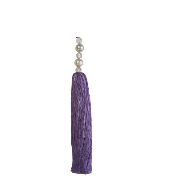 Tassel with Pearl Top - Mauve 25cm