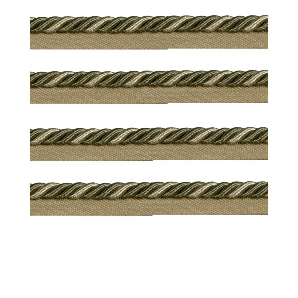 Piping Cord on Tape - OLIVE GREEN