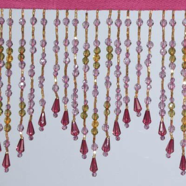 Fringe Beading - Ruby 10cm (Price is per metre)