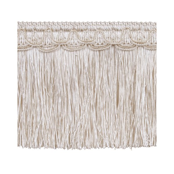 Bullion Fringe on Fancy Braid - CREAM 12.5cm
