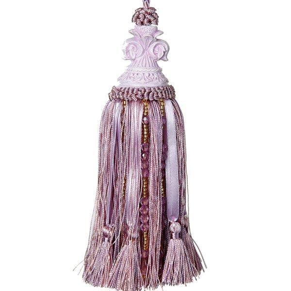 Tassel with Fleur de Lys Top - Mauve 18cm