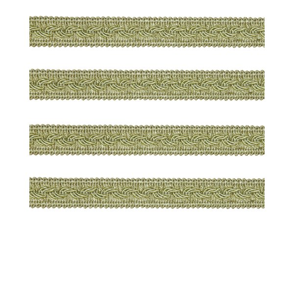 Small Fancy Braid - Antique Green 11mm (Price is per metre)