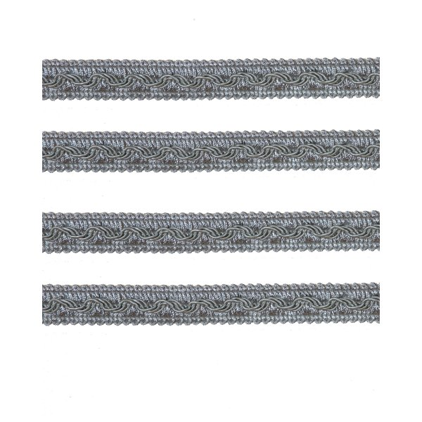 Fancy Braid - Silver French 11mm (Price is per metre)