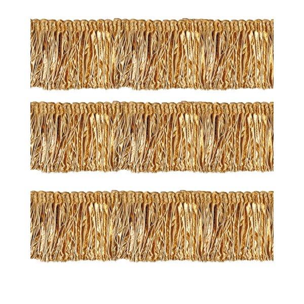 Bullion Fringe with Ribbons - Gold 10cm (Prices per metre)