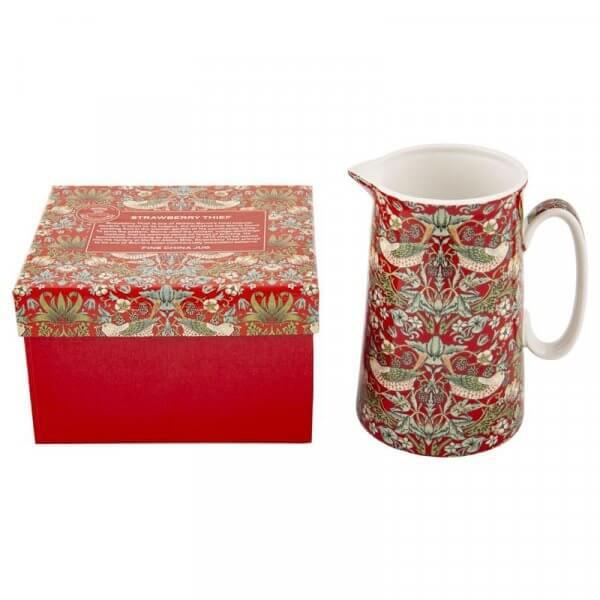 Fine China Milk Jug Strawberry Thief Design Heritage Brand Gift BOXED New 600ml 21oz