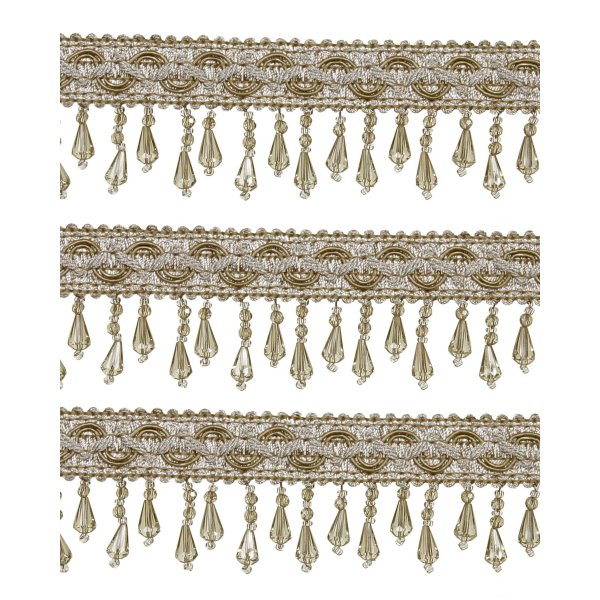 Short Fringe Beading - Mocha 1.5cm (Price is per metre)