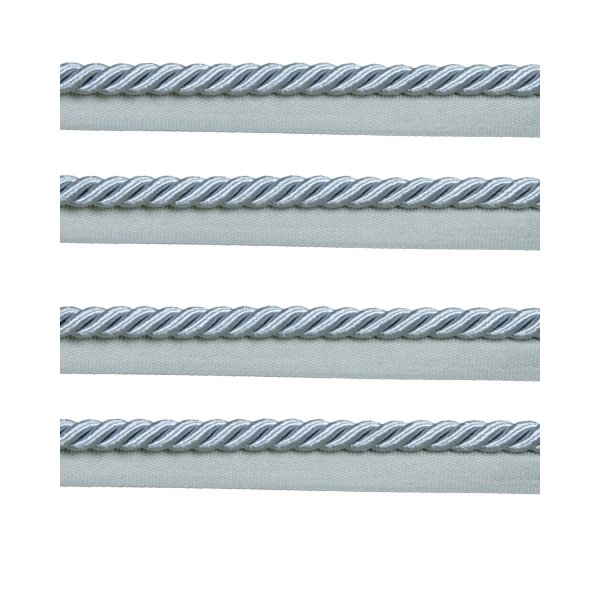 Piping Cord 8mm on Tape - French Silver Blue (Price is per metre)