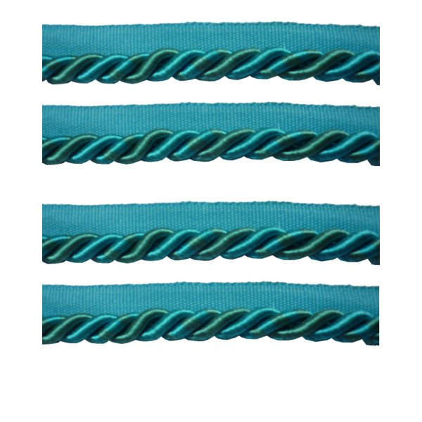Piping Cord on Tape - AQUA BLUE