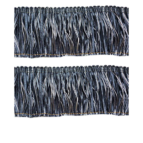 Ruche Fringe with ribbons - Blue 6cm (Prices per metre)