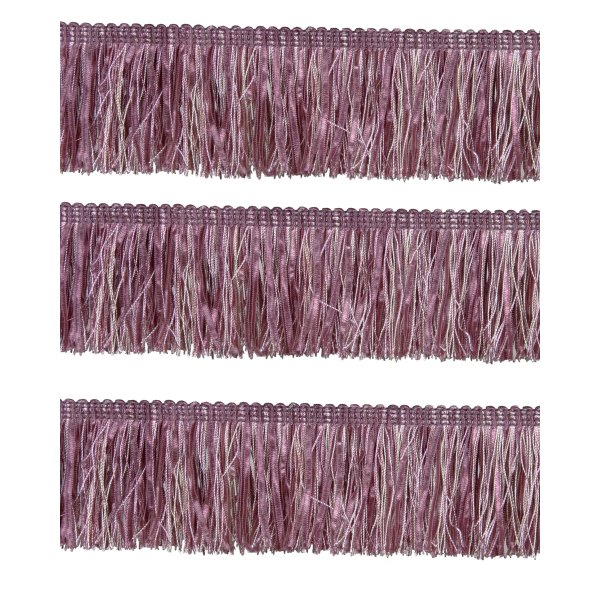 Bullion Fringe with Ribbons - Dusky Pink 6cm (Prices per metre)