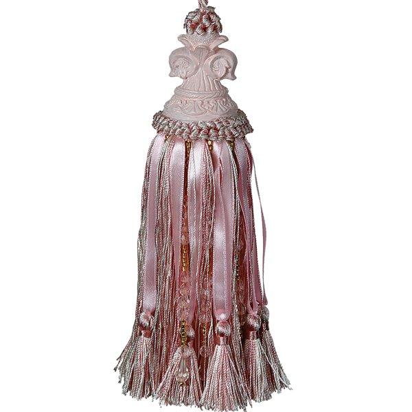 Tassel with Fleur de Lys Top - Pink 18cm