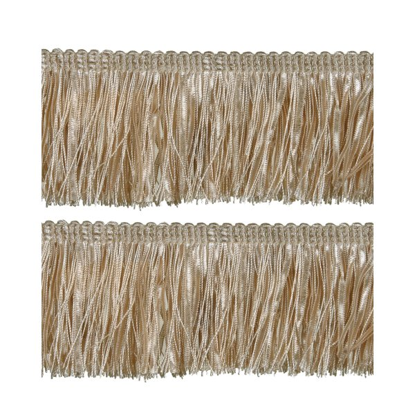 Bullion Fringe with Ribbons - Creamy Gold 6cm (Prices per metre)