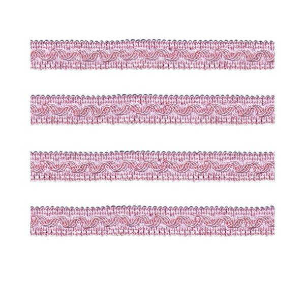 Small Fancy Braid - Dusky Pink 11mm (Price is per metre)