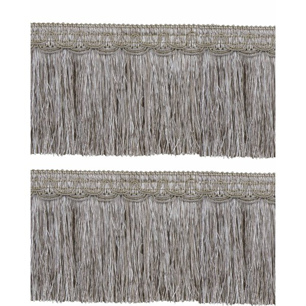 Bullion Fringe on Fancy Braid - TAUPE 12.5cm