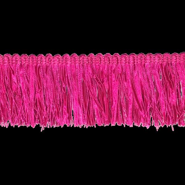 Ruche Fringe - Fuchsia Pink 6.5cm (Prices per metre)