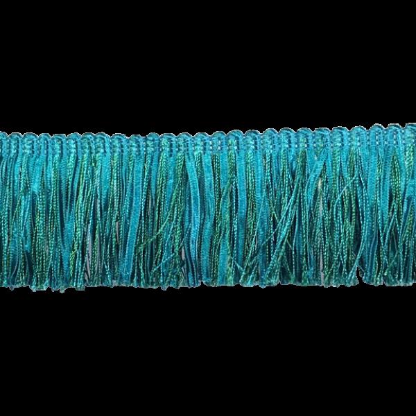Ruche Fringe - Teal Blue 6.5cm (Prices per metre)