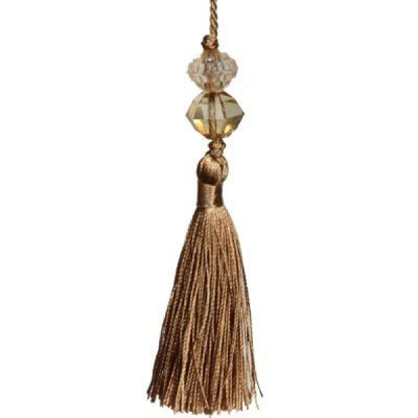 Large Tassel with Bead - GOLD 13.5cm