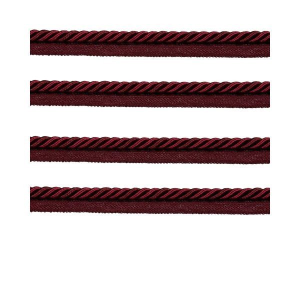Piping Cord 8mm 2 Tone Twist on Tape - Red Wine (Price is per metre)