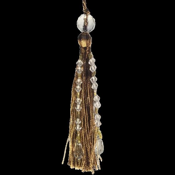 Beaded Tassel - Mocha Brown 12.5cm