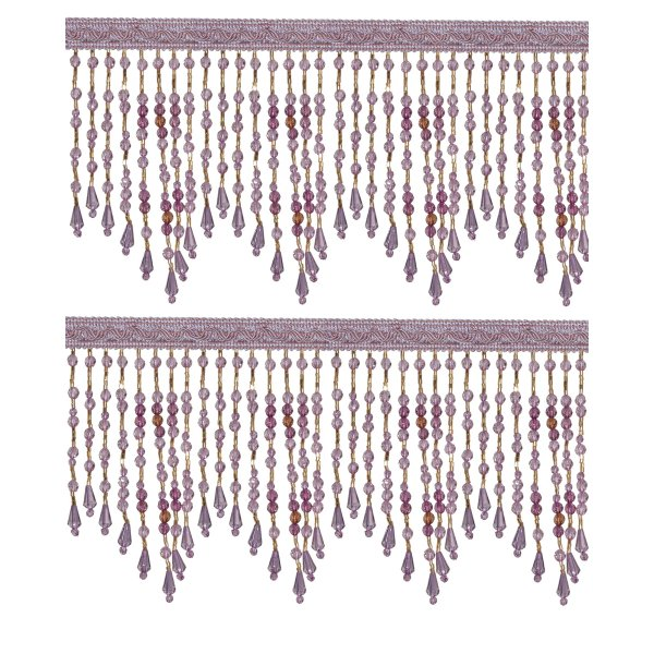 Fringe Beading - Amethyst 10cm (Price is per metre)